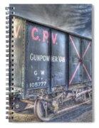 Railway Gunpowder Wagon Spiral Notebook