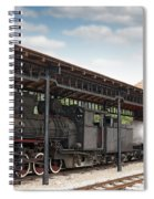 Railway Station With Old Steam Locomotive Spiral Notebook