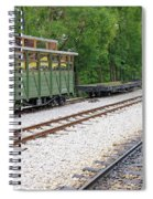 Railway Station With Old Wagons And Train Spiral Notebook