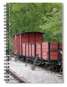 Railway Station With Old Wagons Spiral Notebook