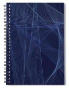Rain Computer Graphic Line Pattern Spiral Notebook