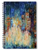 Rain Dance Blues Spiral Notebook