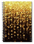 Rain Of Lights Christmas Or Party Background Spiral Notebook