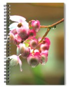 Rain On Flowers Spiral Notebook