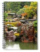Rain On Kyoto Garden Spiral Notebook