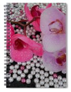 Rain On Orchids Spiral Notebook