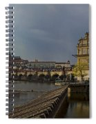 Rain Over Prague Spiral Notebook
