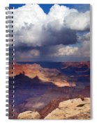 Rain Over The Grand Canyon Spiral Notebook