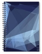 Rain Polygon Pattern Spiral Notebook