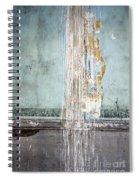 Rain Ruined Wall Spiral Notebook
