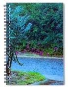 Rain Storm On Lake Linda Spiral Notebook