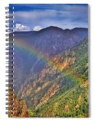 Rainbow Across Canyon Spiral Notebook