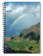 Rainbow At Kalalau Valley Spiral Notebook