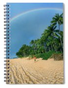 Rainbow At Pipeline, North Shore,  Spiral Notebook