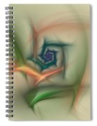 Rainbow Basic Flower Spiral Notebook