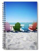 Rainbow Beach Vanilla Pop Spiral Notebook