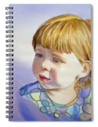 Rainbow Breeze Girl Portrait Spiral Notebook