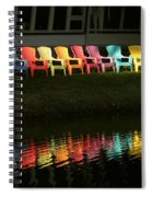 Rainbow Chairs  Spiral Notebook