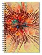 Rainbow Colored Flower Spiral Notebook