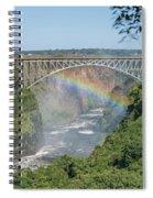 Rainbow Crossing Gorge Beneath Victoria Falls Bridge Spiral Notebook