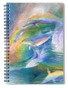 Rainbow Dolphins Spiral Notebook