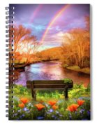 Rainbow Dreams Abstract Spiral Notebook