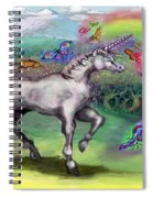 Rainbow Faeries And Unicorn Spiral Notebook