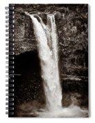 Rainbow Falls 2 - Sepia Spiral Notebook