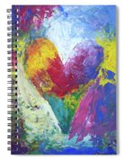 Rainbow Heart In The Cloud Acrylic Paintings Spiral Notebook