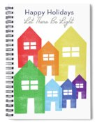 Rainbow Holiday- Art By Linda Woods Spiral Notebook