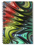 Rainbow In Abstract 05 Spiral Notebook