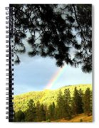 Rainbow In Pine Country Spiral Notebook