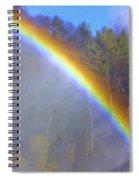 Rainbow In The Mist Spiral Notebook