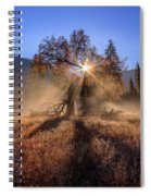 Rainbow In Yosemite Valley Ice Fog Spiral Notebook