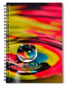 Rainbow Marble Water Drop Spiral Notebook