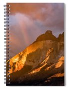 Rainbow Mountain In The Storm Spiral Notebook