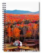 Rainbow Of Autumn Colors Spiral Notebook