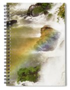 Rainbow On The Falls Spiral Notebook