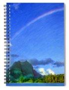 Rainbow Over Bora Bora Spiral Notebook