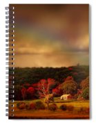 Rainbow Over Countryside Spiral Notebook