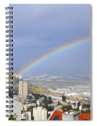 Rainbow Over Haifa, Israel  Spiral Notebook