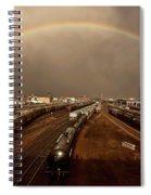 Rainbow Over Moose Jaw Saskatchewan Spiral Notebook