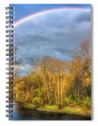 Rainbow Over The River Spiral Notebook