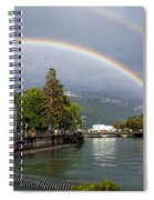 Rainbow Over Thiou River In Annecy Spiral Notebook