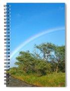 Rainbow Over Treetops Spiral Notebook