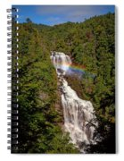 Rainbow Over Whitewater Falls Spiral Notebook