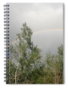 Rainbow Past The Treeline Spiral Notebook
