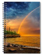Rainbow Point Spiral Notebook