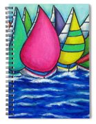 Rainbow Regatta Spiral Notebook