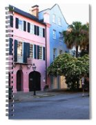 Rainbow Row Charleston Spiral Notebook